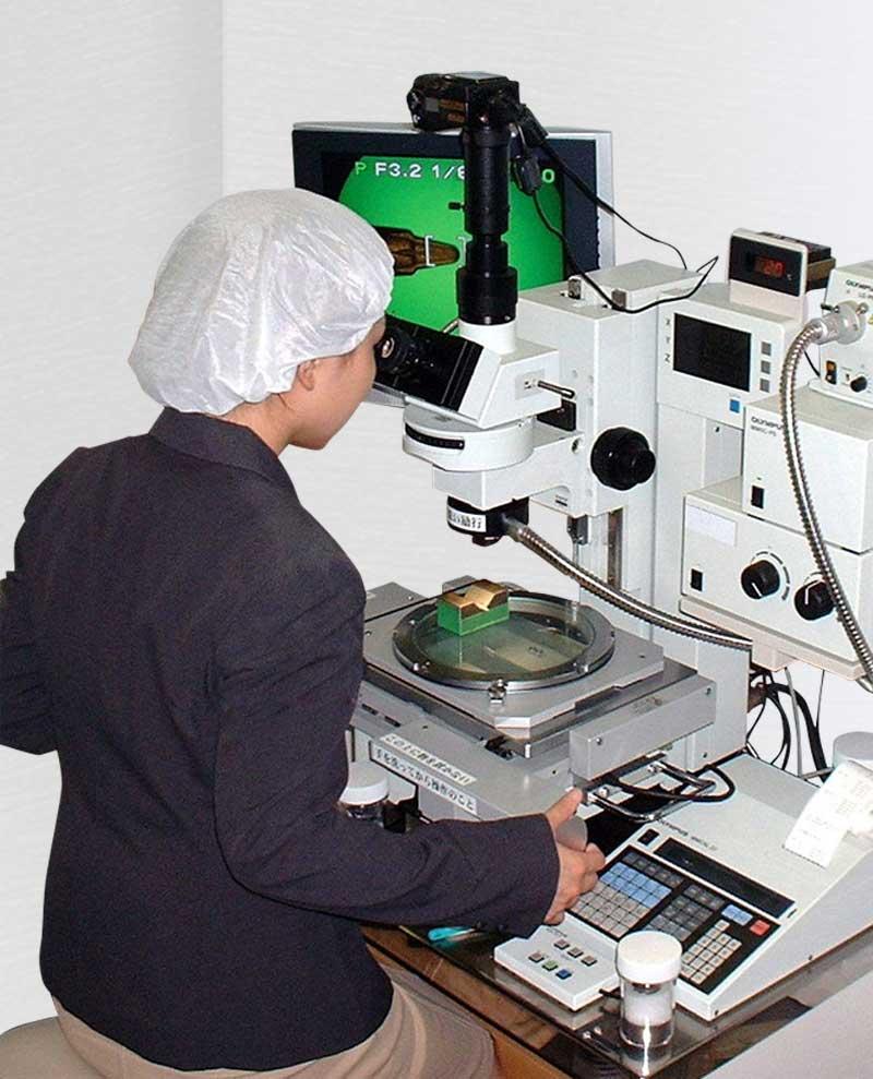 測定顕微鏡検査写真